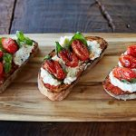 tomato bruschetta with mozzarella