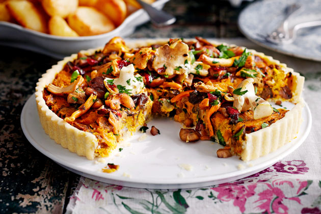 Vegetarian options for Christmas Day vegetable tart