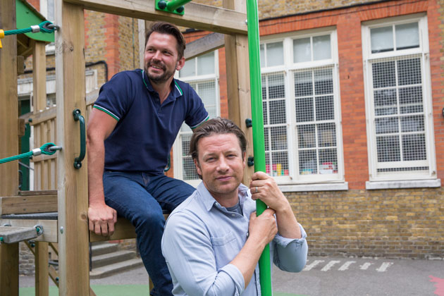 jamie and jimmy at a school