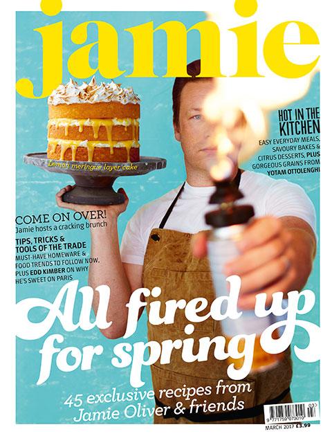 Jamie Oliver magazine cover