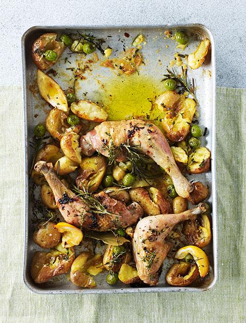 Chicken potato traybake