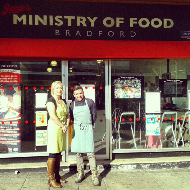 With Sara from Jamie's Ministry of Food - Bradford