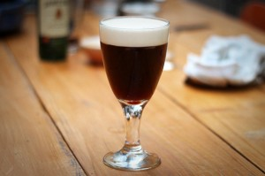 Irish coffee for St Patrick's Day