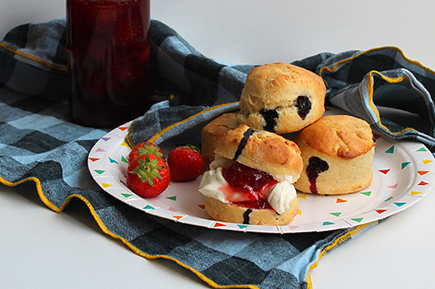 homemade scones jam