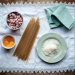gluten-free pasta carbonara ingredients