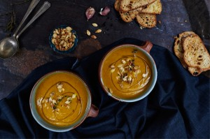 Glorious roasted pumpkin soup