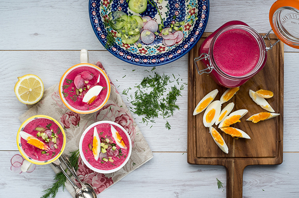 Beautiful chilled beet soup