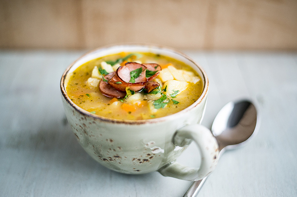 Slow Cooker German Potato Soup Kartoffelsuppe Jamie Oliver Features