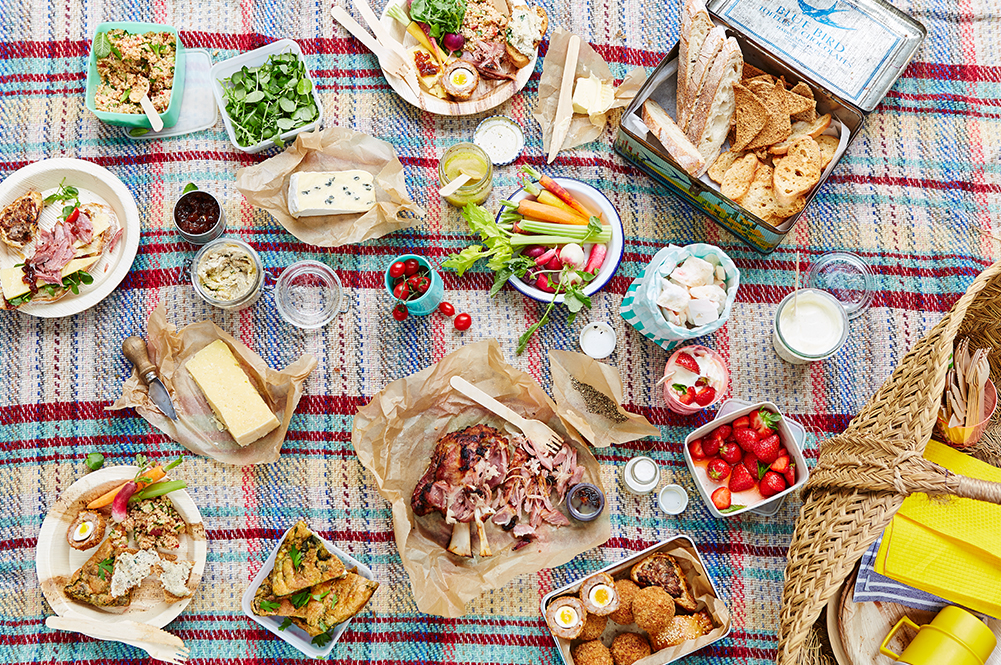 the perfect picnic four ways jamie oliver features. Black Bedroom Furniture Sets. Home Design Ideas