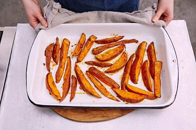 How To Make Sweet Potato Fries Features Jamie Oliver
