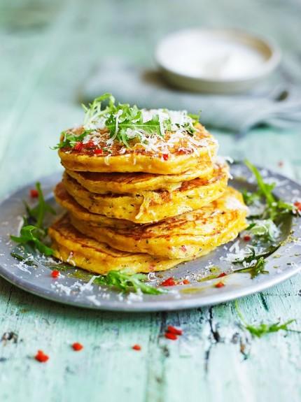 how to make savoury breakfast pancakes