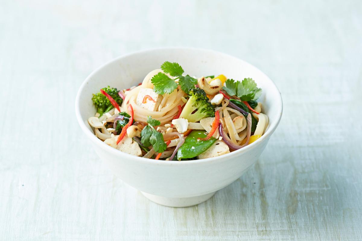 bowl of stir-fry noodles