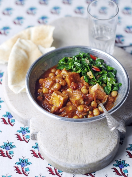 Tofu & chickpea curry
