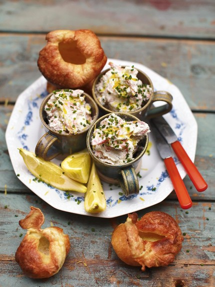 Trout pate with Yorkshire pudding