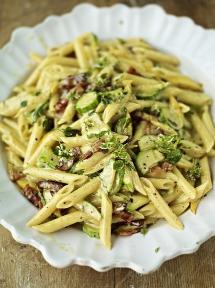 Perfect carbonara - courgette