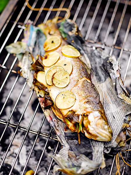 Barbecued fish - third step