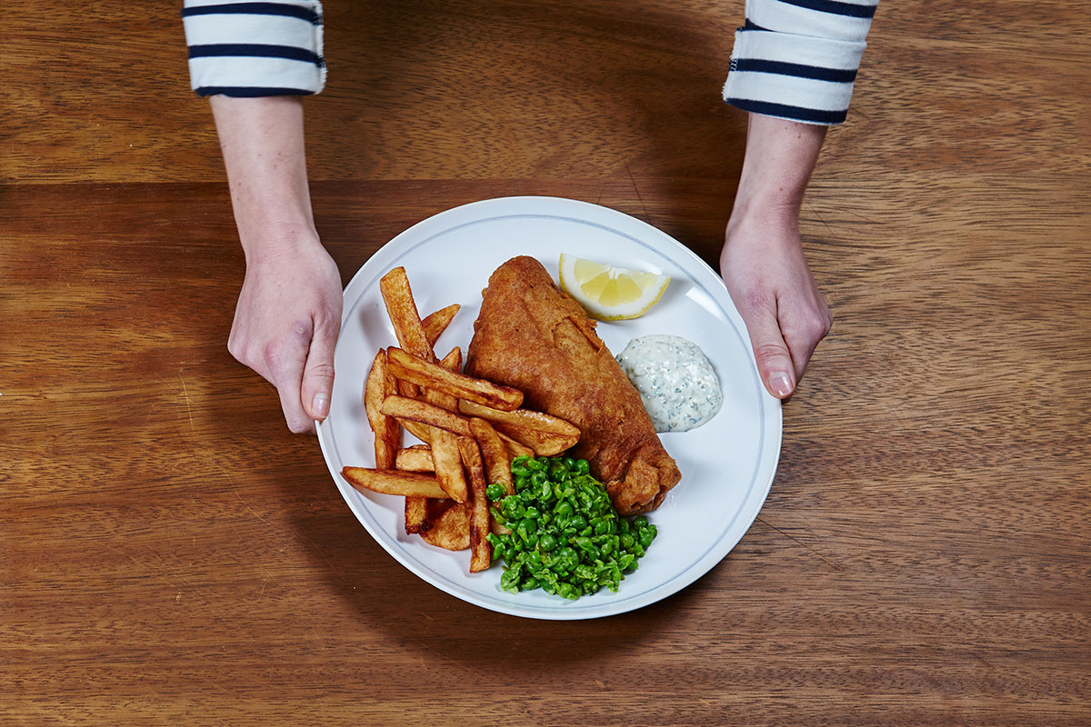 Fish and chips - homemade