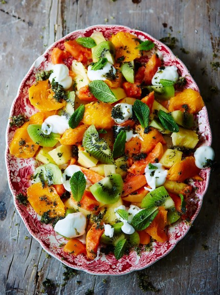 Party food - tropical fruit salad