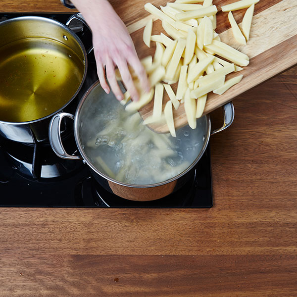 Fish and chips - parboiling