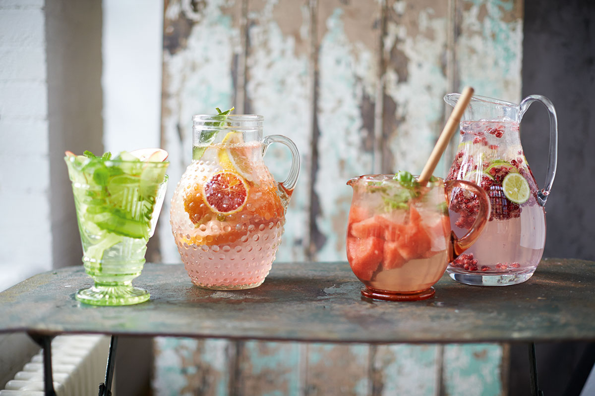 Skill School: Pomegranate, ginger & lime flavoured water