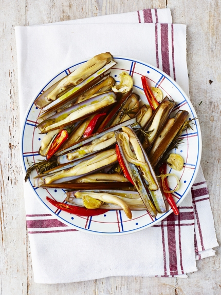 Antipasti - razor clams