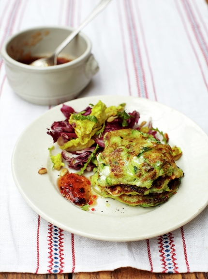 Vegetarian meals - courgette fritters recipe