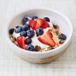 cereal with yoghurt and fruits