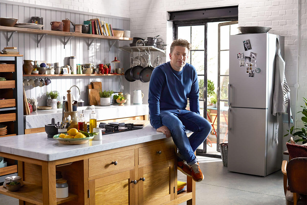 Image of Jamie in the kitchen for clocks go forward feature