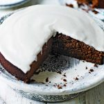 Image of Guinness cake on a plate