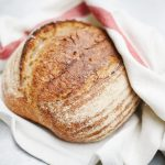 Image of a baked loaf of sourdough
