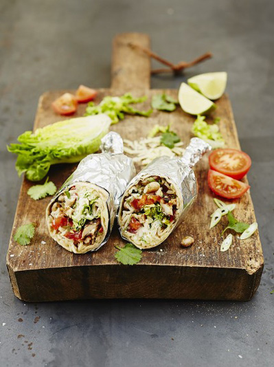 Cracking chicken burrito recipe