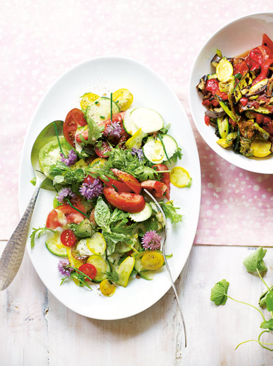 Ratatouille vegetarian summer salad