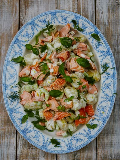 summer salad recipes, salmon salad