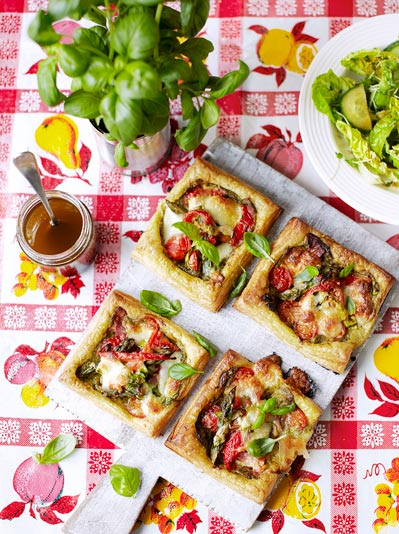 Vegetable tartlets - vegetarian recipes