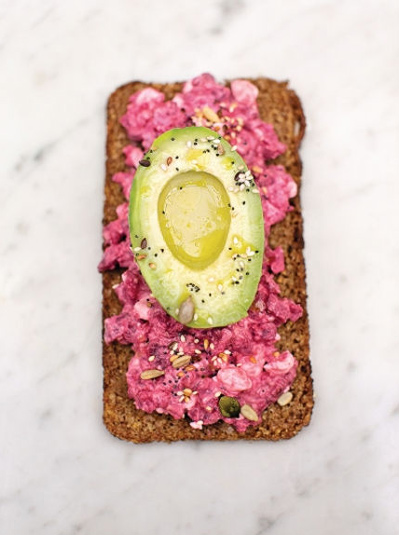 quick breakfast avocado on rye toast recipe