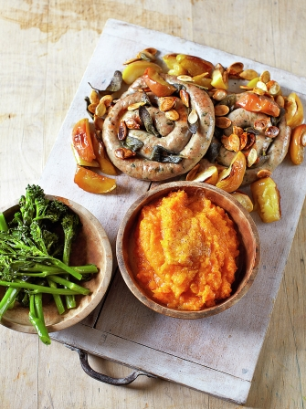 Butternut Squash Mash Amp Sausage Catherine Wheels Jamie Oliver