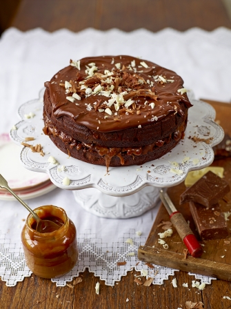 Salted Caramel Cake Recipe chocolate and salted caramel cake | chocolate recipes | jamie oliver