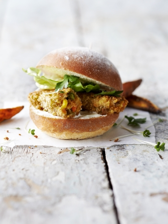 Veggie fish finger sandwich vegetable recipes jamie oliver for Fish sandwich recipe