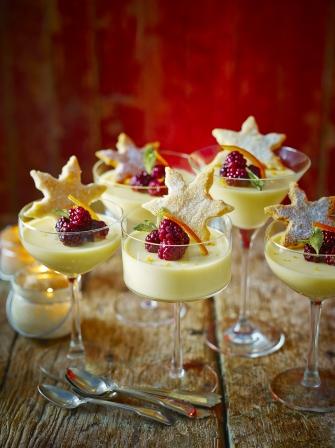 St Celement S Posset With Shortbread Fruit Recipes Jamie Oliver
