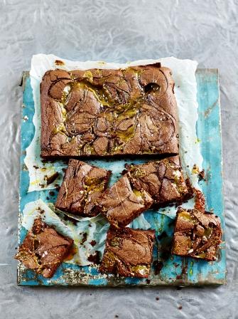 Salted caramel brownies | Jamie Oliver