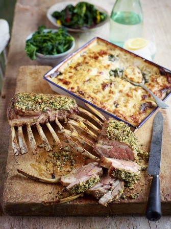 French-trimmed rack of lamb