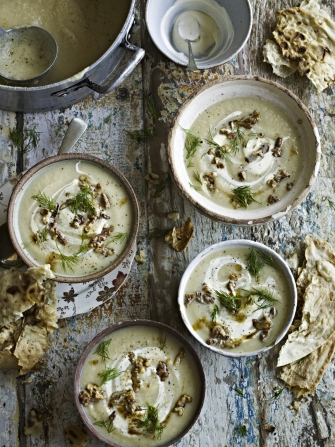 celeriac quince soup vegetables recipes jamie oliver