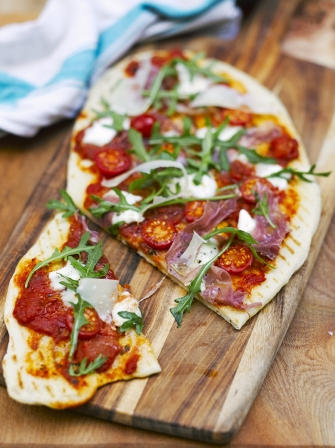 quick grilled pizza jamie oliver. Black Bedroom Furniture Sets. Home Design Ideas