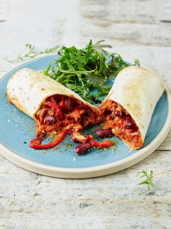 Cool Mexican bean wraps
