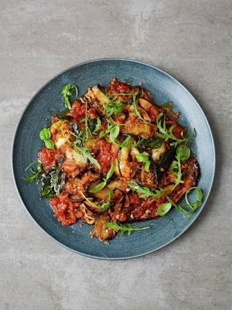 Aubergine Parmigiana With Crispy Breadcrumbs Jamie Oliver