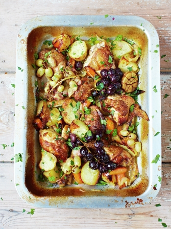 Wine-braised chicken