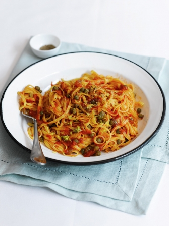 Tomato and caper linguine | Pasta recipes | Jamie magazine