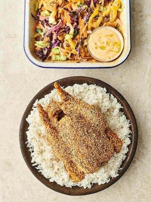 Sesame roast chicken