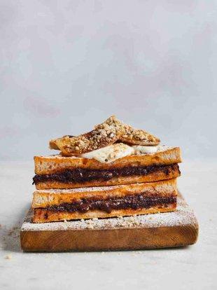 Chocolate & banana French toast