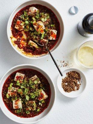 Tuna mapo tofu